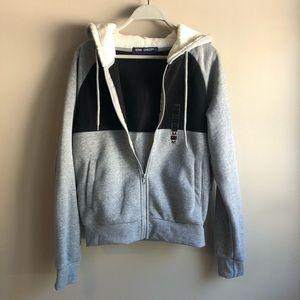FLEECE jacket Full Zip hooded long sleeve pockets
